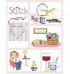 SA125 Stitching Sampler Kathy Schenkel Designs 8 x 10