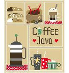 SA121 Coffee Sampler Kathy Schenkel Designs 8 x 10