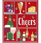 SA120 Cheers Sampler Kathy Schenkel Designs 8 x 10