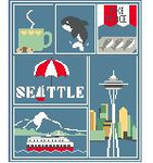 SA119 Seattle Sampler Kathy Schenkel Designs 8 x 10