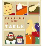 SA114 Thanksgiving Sampler w/SG Kathy Schenkel Designs 8 x 10