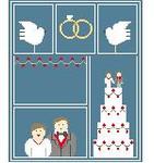 SA108 Wedding Sampler w/SG  Kathy Schenkel Designs 8 x 10