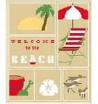 SA105 Beach Sampler w/SG Kathy Schenkel Designs 8 x 10