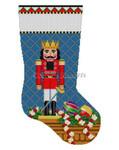 "0183 Nutcracker, Prince stocking #13 Mesh 19"" h  Susan Roberts Needlepoint"