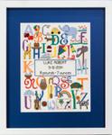 Cherry Lane Designs Bright Alphabet Birth Announcement 140w x 175h