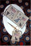 15-1838 Lady Liberty Needle Book & Fob Needle Book: 49 x 101, Fob: 31 x 31 Chessie & Me