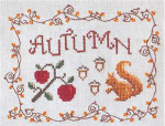 AUTUMN (CS) 93w x 71h Cottage Garden Samplings