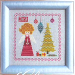 CHRISTMAS ANGEL (CS) 85w x 85  Cottage Garden Samplings