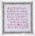 VALENTINE SAMPLER (CS) 160w x 157h  Cottage Garden Samplings