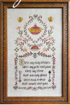 KITCHEN PRAYER (CS) 123w x 219h Cottage Garden Samplings