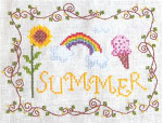 SUMMER (CS) 93w x 71h Cottage Garden Samplings