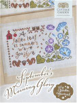 SEPTEMBER'S MORNING GLORY - MY GARDEN JOURNAL SERIES (CS) 125w x 74h Cottage Garden Samplings