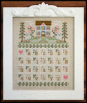 Cottage Alphabet 131w x 163h Country Cottage Needleworks Counted Cross Stitch Pattern