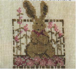 DAISY RABBIT (CS) 41w x 58h Country Garden Stitchery