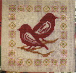 CHRISTMAS BIRDS (CS) 68 x 68 Country Garden Stitchery