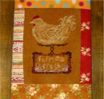 FRESH EGGS (CS) 56w x 72h Country Garden Stitchery