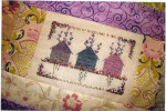 LAVENDER HOUSES (CS) 82W x 54h Country Garden Stitchery