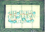 A SAMPLER IN SILK AND FLOWERS Country Garden Stitchery