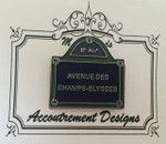 Paris Street Sign Large Classic MAGNET Accoutrement Designs