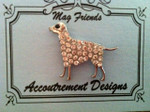 Dog, Large clear MAGNET Accoutrement Designs
