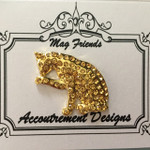 Cat Gold Glamorous MAGNET Accoutrement Designs