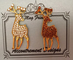 Deer clear Shown Left Glamorous MAGNET Accoutrement Designs