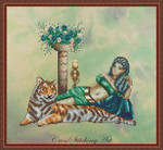 Cross Stitching Art Cleopatra 122w x 109h