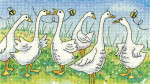 HCK1299A Heritage Crafts Gossiping Geese - Birds of a Feather by Karen Carter