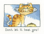 HCK1303A Heritage Crafts Don't Let It Beat You - Cats Rule by Peter Underhill