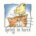 HCK1304A Heritage Crafts Spring is Here - Cats Rule by Peter Underhill