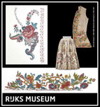 GOK781 Thea Gouverneur Skirt with Flowers & Waistcoat with Flowers - Rijks Museum Catwalk