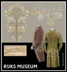 GOK784 Thea Gouverneur Habit a La Francaise (2 designs)- Rijks Museum Catwalk