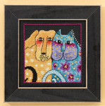 LB301612 Mill Hill Laurel Burch Fur-ever Friends -  Dogs Collection (Linen)