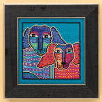 LB301611 Mill Hill Laurel Burch Ol' Blue & Red -  Dogs Collection (Linen