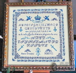 07-2258 Royal Blue Sampler by Passione Ricamo