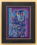 LB301624 Mill Hill Laurel Burch Bloomingtails -  Dogs Collection (Aida)