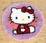PNV147570 Vervaco Kti Hello Kitty Latch Hook Rug