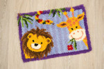 PNV144842 Vervaco Jungle Friends Shaped Latch Hook Rug