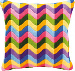 PNV10866 Vervaco Kit Waves Long Stitch Cushion