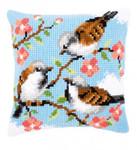 PNV145156 Vervaco Birds Between Flowers Cushion
