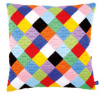 PNV156326 Vervaco Kit Colorful Diamonds Cushion