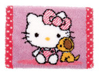 PNV155872 Vervaco Hello Kitty & Dog Latch Hook Rug