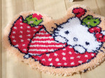 PNV155205 Vervaco Umbrella Hello Kitty Latch Hook Rug