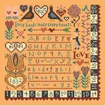 BF309 Happy Hearts Sampler Birds Of A Feather