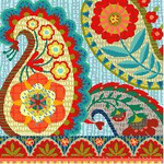 BF624 Bohemian Paisley Birds Of A Feather