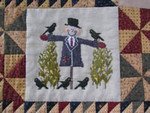 THI-1509 Autumn Splendor: Scarecrow 106 x 98 Thistles