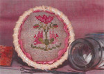 13-2859 Flower Pincushion Topper (w/rick rack) by Dames Of The Needle