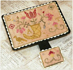 15-2454 Quaker Flowers Hornbook 1.65w x 1.22h Dames Of The Needle