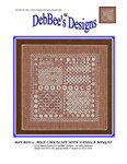 Bon Bon 2-Milk Chocolate 140w x 140h DebBee's Designs Counted Canvas Pattern