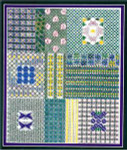 BASKETS, BLOOMS AND BUTTERFLIES (CC) 144 x 180 DebBee's Designs Counted Canvas Pattern